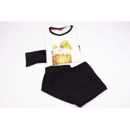 Pánske pyžamo Simpsons čierne L