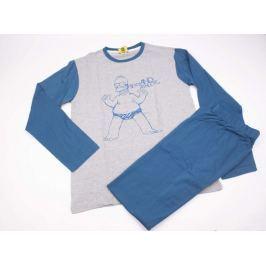 Pánske bavlnené pyžamo Simpsons modré M