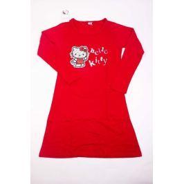 Dámska bavlnená nočná košeľa Hello Kitty červená M