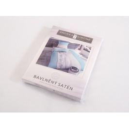 2x predĺžené posteľné obliečky bavlnený satén Stripetto 140x220