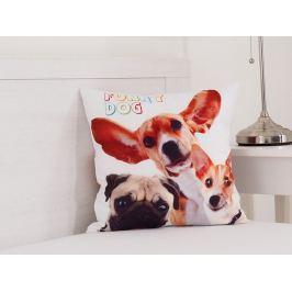 Dekoračný vankúšik Funny dogs 40x40