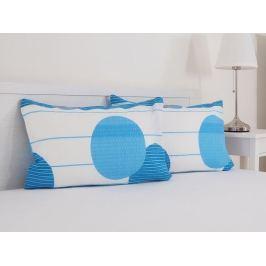 Povlak na Poltár 50x70 krep modrý hotel. uzáver 2 kusy v balení