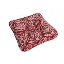 2x podsedák so šnúrkami prešitý červené ruže 40x40