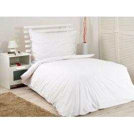 2x bavlnené hotelové obliečky Hotel biela na gombíky 140x200