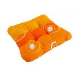 Sedák so šnúrkami prešitý Oranžová kolieska 40x40