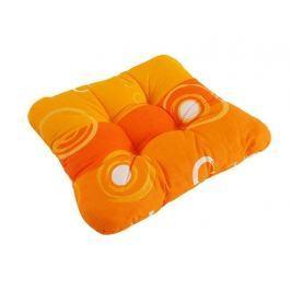 2x sedák so šnúrkami prešitý Oranžová kolieska 40x40