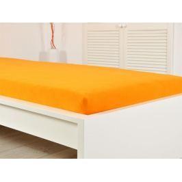 2x jersey elastické prestieradlo 180x200 s gumou oranžovej (170g / m2)