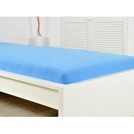 2x jersey plachta modrá 180x200 s gumou (170g / m2)