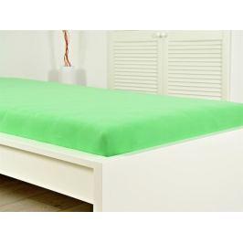 2x bavlnené elastické prestieradlo s gumou svieža zelená 180x200 (170g / m2)