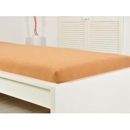 2x jersey elastické hnedé prestieradlo 180x200 s gumou (170g / m2)