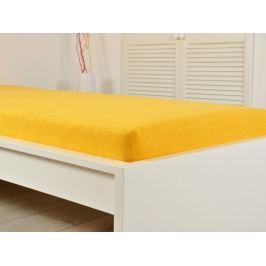 2x jersey elastické prestieradlo 140x200 s gumou sýto žltá (170g / m2)