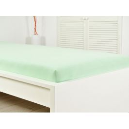 2x jersey plachta zelená 160x200 s gumou (170g / m2)