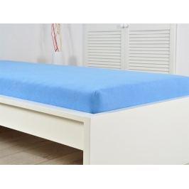 2x modré froté plachta 200 x 220 elastické (190g / m2)