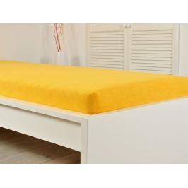 2x froté elastické prestieradlo 200 x 220 sýte žltej (190g / m2)