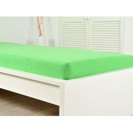2x froté elastické prestieradlo svieže zelené 200x220cm (190g / m2)