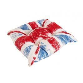 Kvalitný sedák s potlačou anglickej vlajky Union Jack 45x45