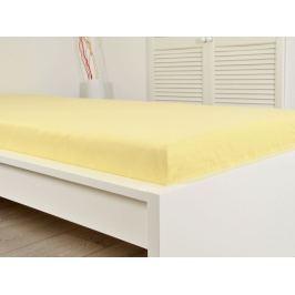 Klasické tkané prestieradlo zo 100% bavlny Renforcé žltá 220x240