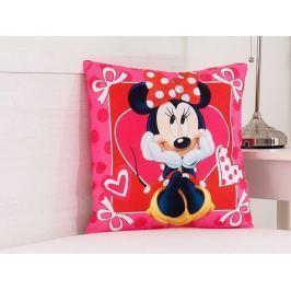 Detský dekoračný vankúšik Minnie srdiečka 40x40