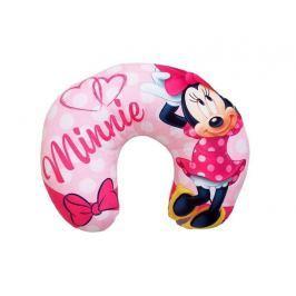 Mäkučký detský cestovný vankúšik Minnie ružová 28x33