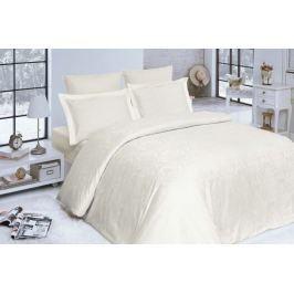 Kvalitné damaškové obliečky z bavlny Addobbe krémová 140x200