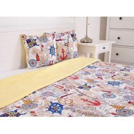 Prešívaný prehoz na posteľ Marine žltá 230x190