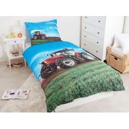 Licenčné bavlnené obliečky Červený traktor 140x200