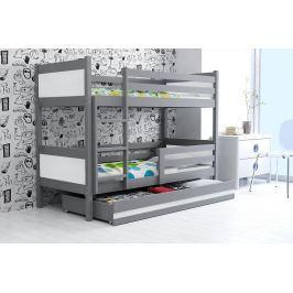 BMS Detská poschodová posteľ Rino 80 x 190 grafit Farba: Biela