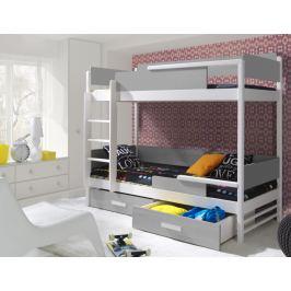 ArtBed Detská poschodová posteľ Tres Prevedenie: Borovica prírodná