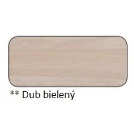 Drewmax Jedálenský stôl Metal ST373 / dub / doska 2,5 cm Farba: Dub bielený, Prevedenie: A 120 x 75 x 80 cm