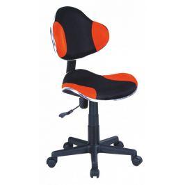Signal Detská stolička Q-G2 látka oranžovo-čierna