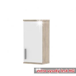 Tempo Kondela Kúpeľňová zostava LESSY Lessy: Závesná skrinka LESSY LI 04/1D / 38x72x25 cm