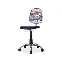 Signal Detská stolička GRAFI Prevedenie: TYP 1 / čierna + vzor grafika