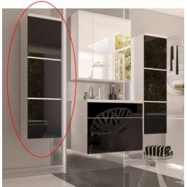 Tempo Kondela Kúpelňová zostava Mason čierna / biela Kúpelňová zostava Mason: skrinka vysoká biela / čierna 30x110x31