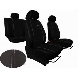 Autopoťahy Leather Look Exclusive - čierne