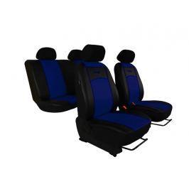 Autopoťahy Leather Look čierno-modré