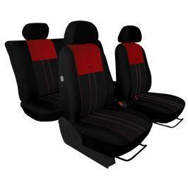 Autopoťahy DUO Luxus čierno-červené