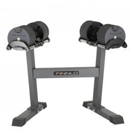 FINNLO Smart Lock Set - nastaviteľné činky so stojanom 2-20 kg