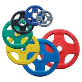 BODY SOLID farebný olympijský kotúč pogumovaný 1,25 kg - šedý