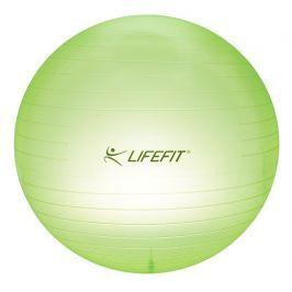 Gymnastická lopta LIFEFIT TRANSPARENT 75 cm, sv. zelená