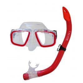 Potápačský set Calter JUNIOR S9301 + M229 P + S - červený