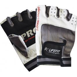 Fitnes rukavice LIFEFIT PRO - biele