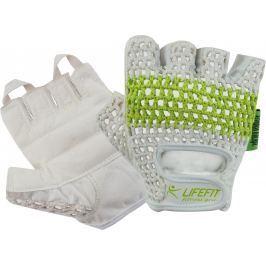 Fitnes rukavice LIFEFIT FIT - bielo zelené