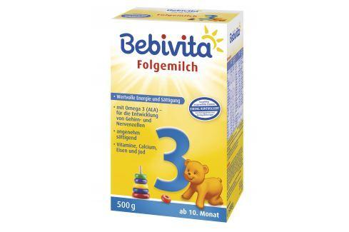 Bebivita Mlieko 3 Instantné následná mliečna dojčenská výživa od uk. 9. mesiaca 4x500g