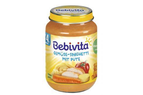 Bebivita Zelenina - špagety s morčacím mäsom 6x190g