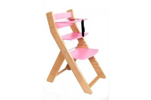WOOD PARTNER Rastúca stolička UNIZO - natur lak ružové, prípustný
