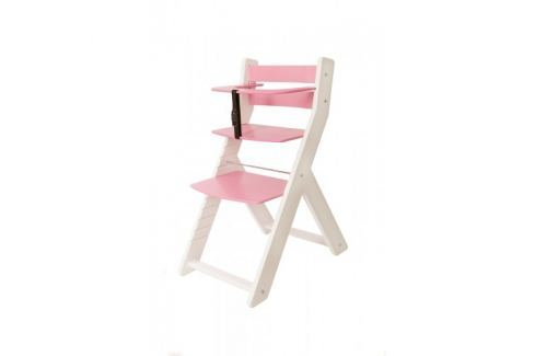 WOOD PARTNER Rastúca stolička UNIZO KOMBI - biela - ružová