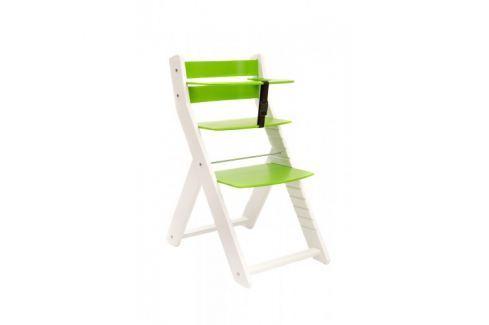 WOOD PARTNER Rastúca stolička UNIZO KOMBI - biela - zelená