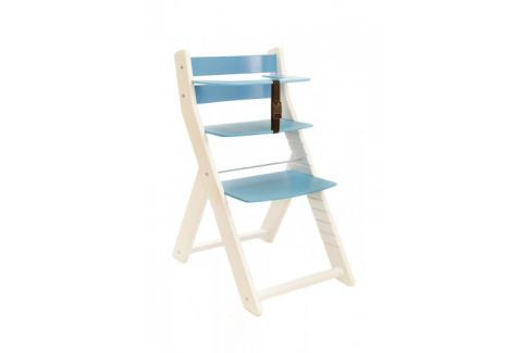 WOOD PARTNER Rastúca stolička UNIZO KOMBI - biela - modrá