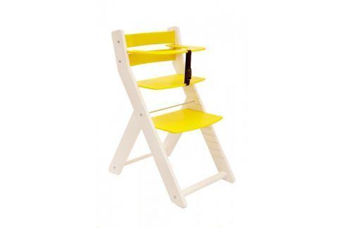 WOOD PARTNER Rastúca stolička UNIZO KOMBI - biela - žltá