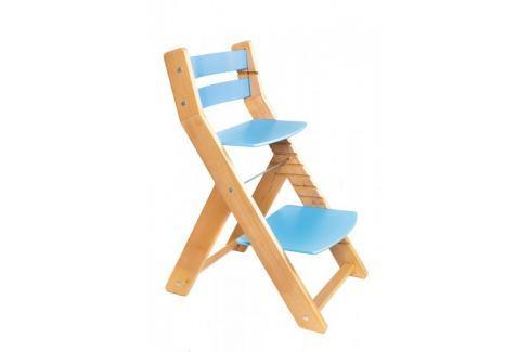 WOOD PARTNER Rastúca stolička MONY natur lak - modrá